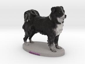 Custom Dog Figurine - KODIAK in Full Color Sandstone