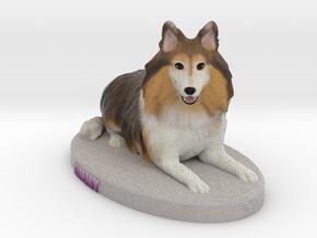 Custom Dog Figurine - Kimmy in Full Color Sandstone