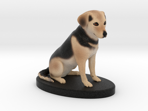 Custom Dog Figurine - Maisey in Full Color Sandstone
