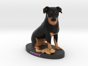 Custom Dog Figurine - Brinx in Full Color Sandstone