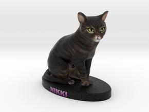 Custom Cat Figurine - Nikki in Full Color Sandstone