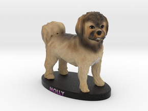 Custom Dog Figurine - Molly in Full Color Sandstone