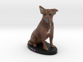 Custom Dog Figurine - Tex in Full Color Sandstone