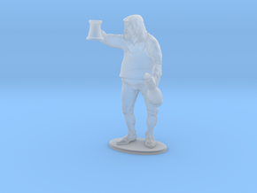 Bar Patron Standing  1:48, D&D, Pathfinder scale.  in Smooth Fine Detail Plastic
