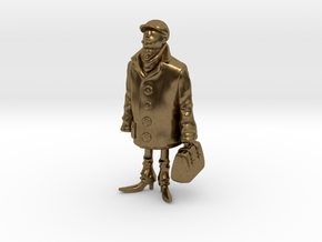 Man holding a suitcase in Natural Bronze