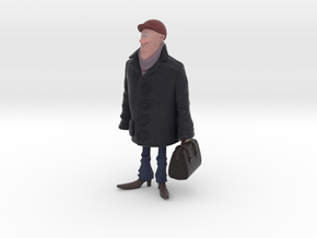 Man holding a suitcase in Full Color Sandstone