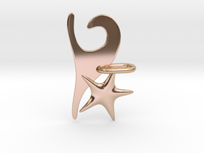 Wave and Starfish in 14k Rose Gold Plated