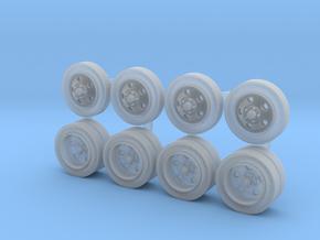 Five-hole Steel Wheels in Smoothest Fine Detail Plastic