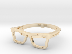 Hipster Glasses Ring Origin Size 10 (size 6-10) in 14K Yellow Gold