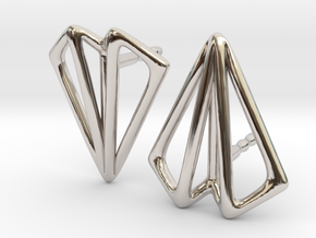 Paper Plane -earrings in Platinum