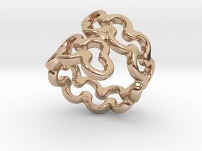 Jagged Ring 17 - Italian Size 17 in 14k Rose Gold Plated