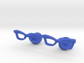 Hipster Glasses Cufflinks Female in Blue Processed Versatile Plastic