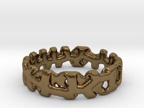 Voronoi 1 Design Ring Ø 19 mm/Ø 0.748 inch in Polished Bronze