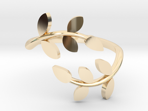 Vine Ring in 14k Gold Plated Brass: 6 / 51.5