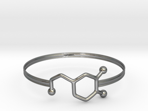 Dopamine Bracelet - small 65mm diameter in Premium Silver