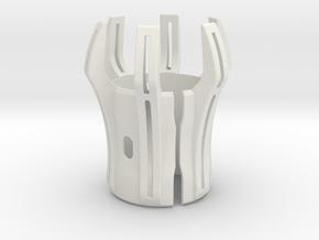 Emitter Shroud - Oppressor in White Natural Versatile Plastic