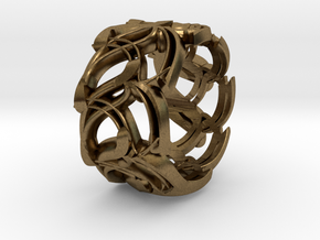 Crown Mesh Ring / Bronze Brass or Silver Ring in Natural Bronze