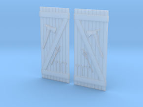 Hydrant Doors in Smooth Fine Detail Plastic