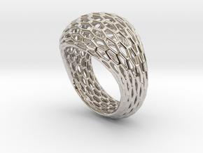 Hexagonal ring size 9 in Platinum