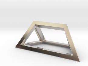 Material Sample - 'Impossible' Pyramid Puzzle Piec in Platinum