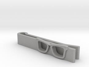 Hipster Glasses Tie-Clip Origin in Aluminum