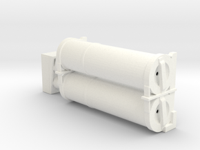1/16 Pz IV Air Filter in White Strong & Flexible Polished