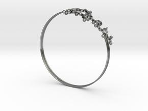 Oxytocin Bracelet 75mm Embossed in Fine Detail Polished Silver