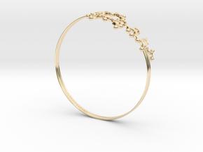 Oxytocin Bracelet 65mm in 14k Gold Plated Brass