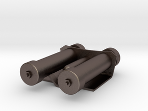 Mag Power Cylinders in Polished Bronzed Silver Steel