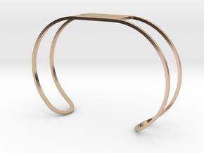 Custom Bracelet 40mm X 30mm Wire in 14k Rose Gold