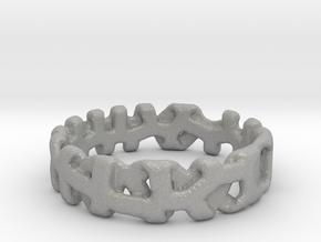 Voronoi 1 Design Ring Ø 21.3 Mm/0.839 inch in Aluminum