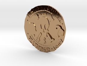 Monkey Island 3 | Verb Coin in Polished Brass