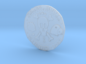 Monkey Island 3 | Verb Coin in Smooth Fine Detail Plastic