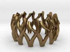 Simple Mesh Ring / Gold Mesh Ring in Polished Bronze
