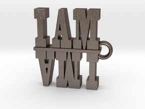 I Am-I AM AM I 2 in Polished Bronzed Silver Steel