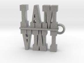 I Am-I AM AM I 2 in Metallic Plastic