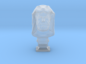 Hercules bust in Smooth Fine Detail Plastic