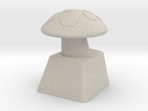 MushroomCap Artisan Cherry Keycap in Natural Sandstone
