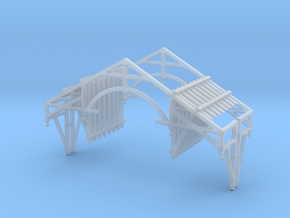 HO Scale QN Brackets And Gable Detail in Smooth Fine Detail Plastic