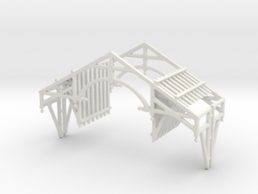 S Scale QN Brackets And Gable Detail in White Strong & Flexible