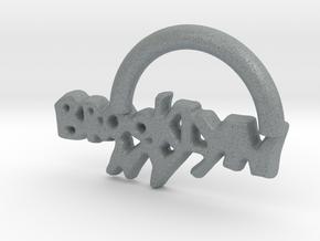 Brooklyn NY Keychain in Polished Metallic Plastic