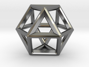 VECTOR EQUILIBRIUM FRAME in Fine Detail Polished Silver