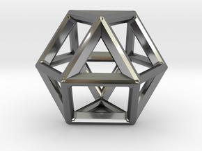 VECTOR EQUILIBRIUM FRAME in Fine Detail Polished Silver