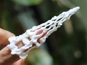 Claw Ring in White Strong & Flexible