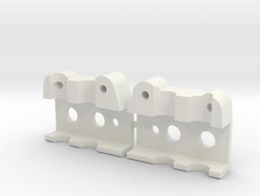 Bumper mount for MST CMX in White Strong & Flexible