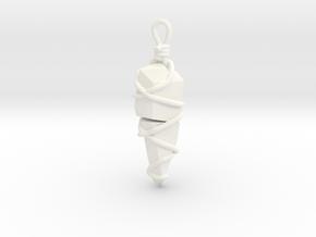 Stones Pendant in White Processed Versatile Plastic