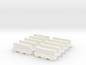 HO - Concrete Jersey 2m in White Processed Versatile Plastic