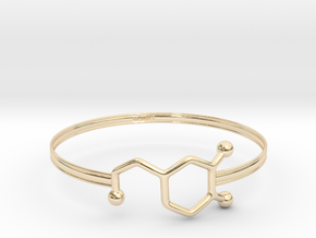 Dopamine Bracelet - Medium - 70mm diameter in 14K Yellow Gold