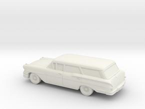 1/87 1958 Chevrolet Nomad in White Natural Versatile Plastic