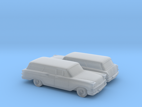 1/160 2X 1958 Chevrolet Nomad in Smooth Fine Detail Plastic
